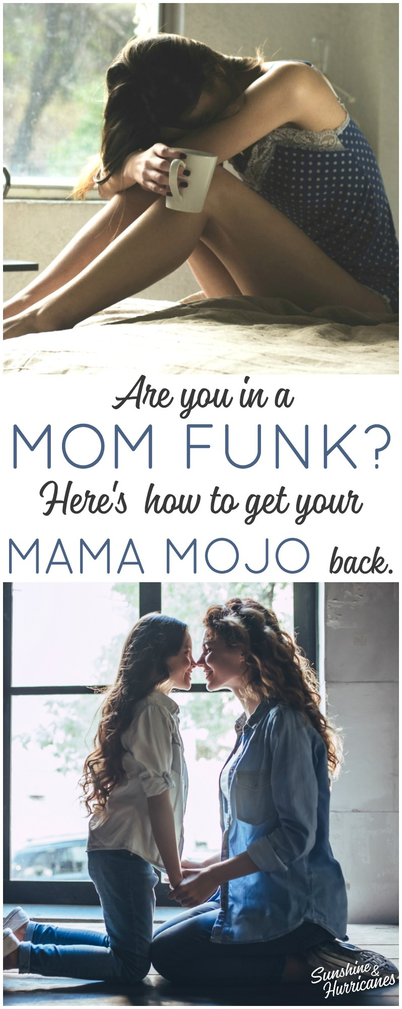 Are you in a mom funk? Feeling frustrated, overwhelmed and angry? You're not alone and here's how to get your mama mojo back.