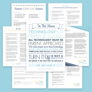 Family Technology Resources Printables Bundles
