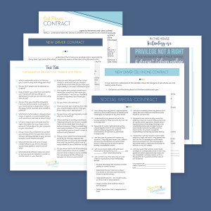 Tween and Teen Tech Bundle: Social Media Contract, Cell Phone Contract, Screen Time Contract