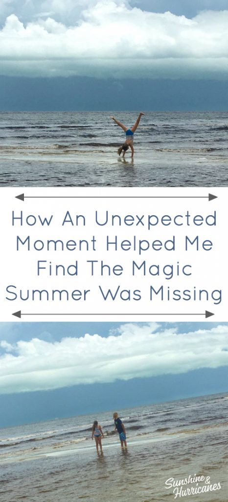 How an unexpected moment helped me find the magic I thought Our summer was missing