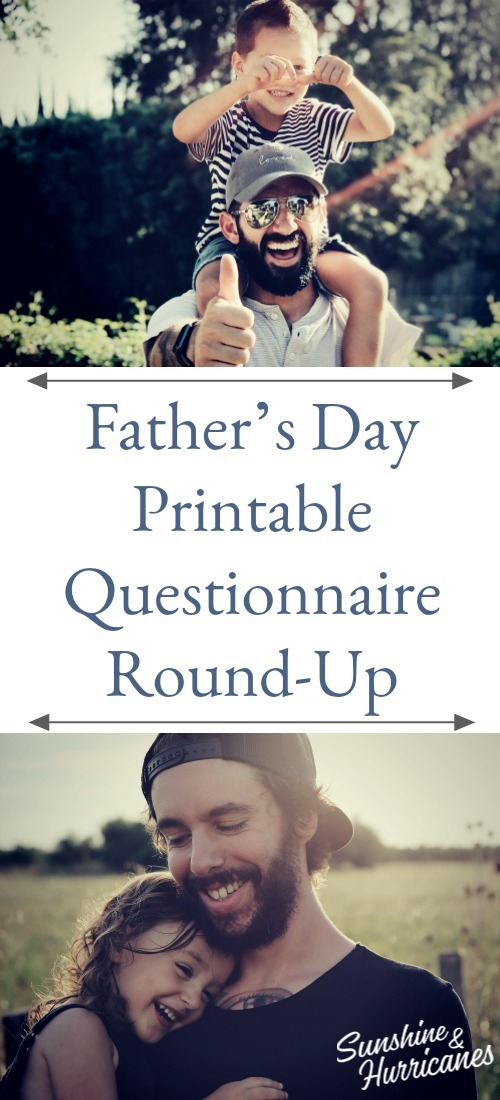 Father's Day Printable Questionnaire Round-Up 2020