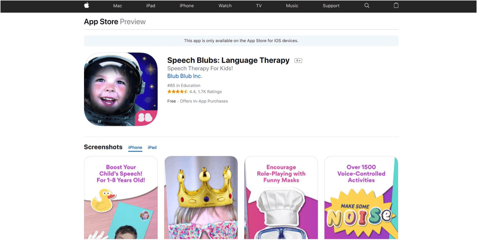 Speech Blubs Language Therapy. Language Apps for Kids