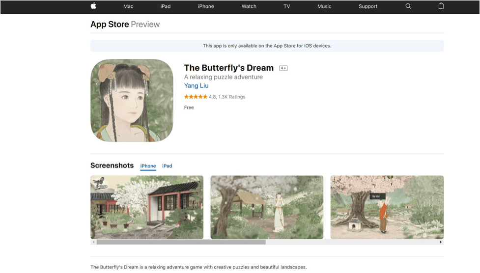 The Butterfly's Dream. Chinese Culture and Reading App for Kids