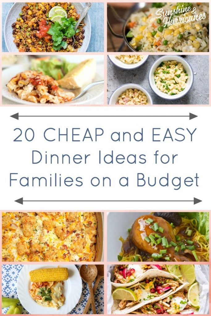 20 Cheap Dinner Ideas for a Family on a Budget