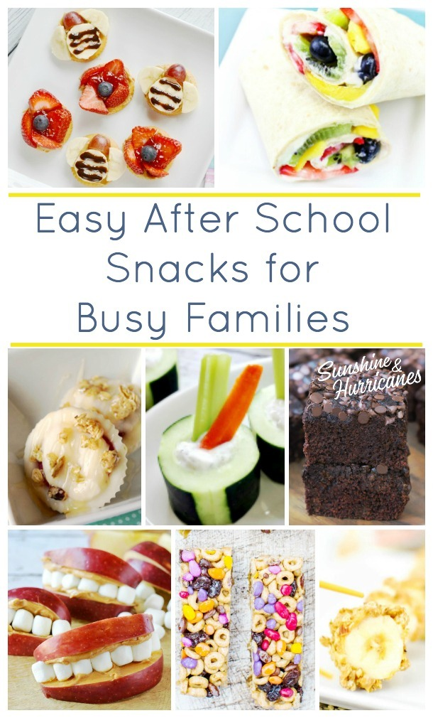 Easy Afterschool Snacks for Busy Families