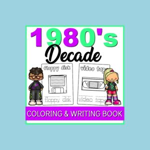 1980s coloring book for kids