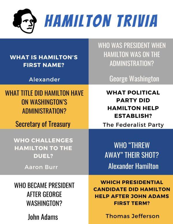 Hamilton Printable Activity Pack