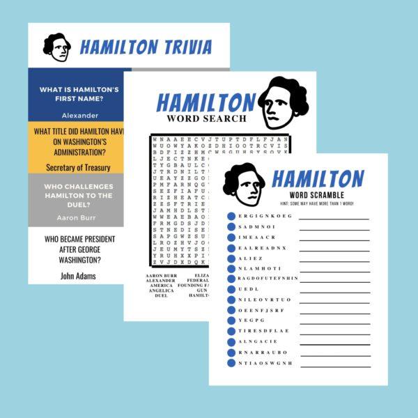Hamilton Printables Activity Pack