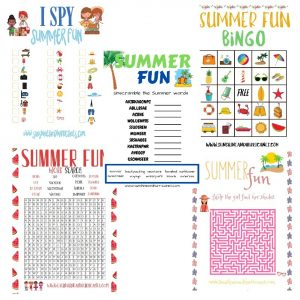 Summer Activities for Kids Printable Pack