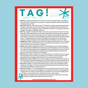 Tag Printable Summer Games for Kids