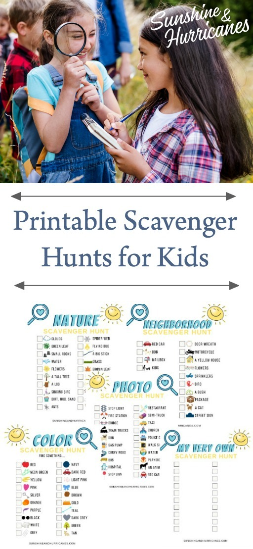Printable Scavenger Hunt For Kids
